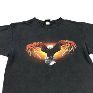 Harley Davidson South Dakota Flaming Eagle T-Shirt